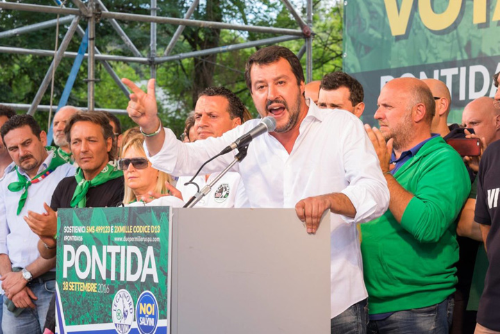 salvini Italia vrea o liga nationalista paneuropeana