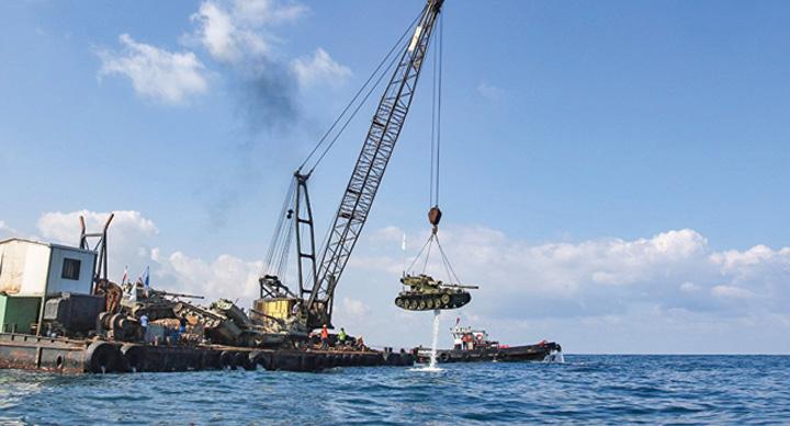 tancuri 2 Liban scufunda tancuri pentru a atrage turisti