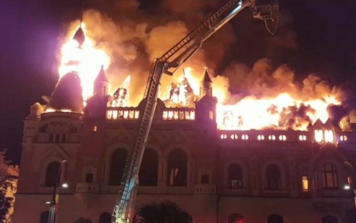 1 3 720x451 Episcopia Greco Catolica, ruina dupa incendiul devastator
