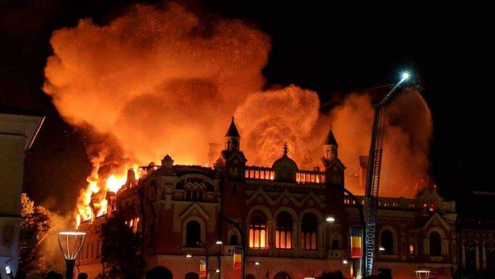 4 1 720x406 Episcopia Greco Catolica, ruina dupa incendiul devastator