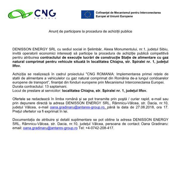 anunt13 aug Anunț de participare la procedura de achiziții publice