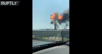 expl 350x187 Explozie in apropierea aeroportului din Bologna (VIDEO)