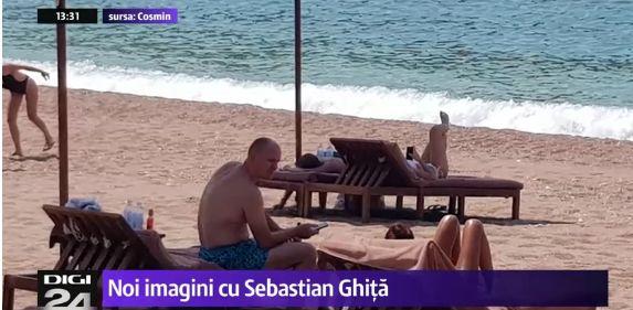 imagine Sebastian Ghita, pozat la plaja