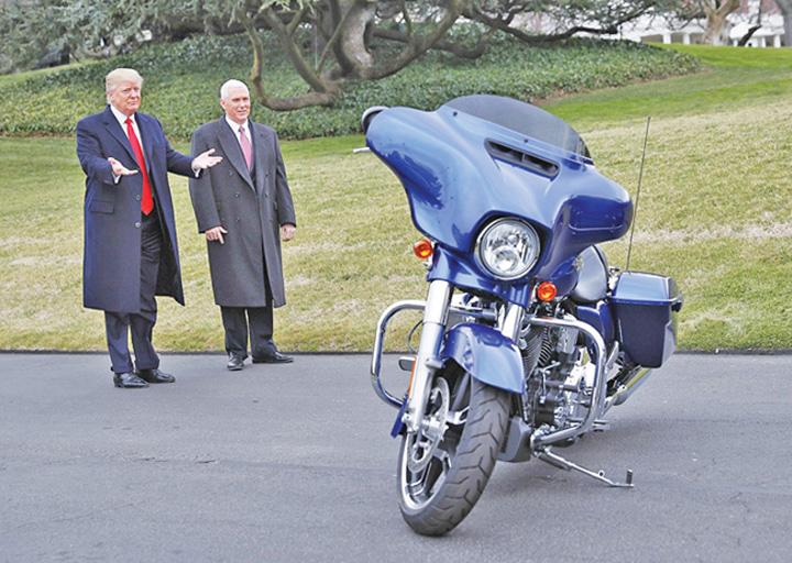 trump harley Trump cere boicotarea Harley Davidson