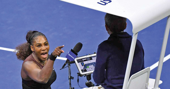 1 Serena Williams, criza de nervi la US Open