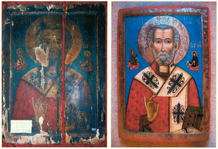 Icoana Sfantului Nicolae restaurata 720x491 Biserica Albă, un reper spiritual (I)