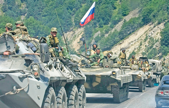 Russian troops Russian Georgian War EDM August 6 2018 Rusia   SUA, in pragul razboiului