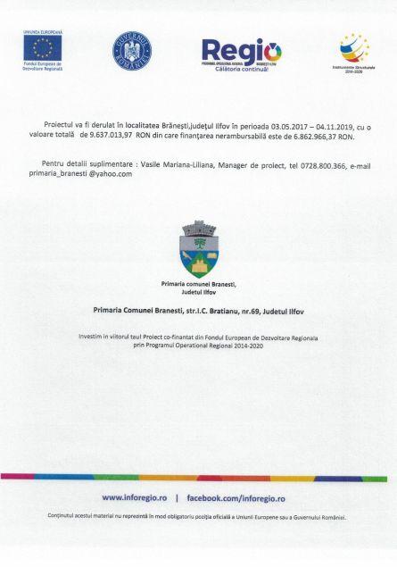anunt 28 cezar 2 Comunicat de presa Finanțare nerambursabilă pentru proiectul Creșterea eficienței energetice pentru Liceul Tehnologic Cezar Nicolau Cod SMIS 118576