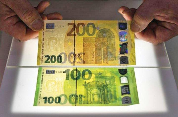 bani Noile bancnote de 100 si 200 de euro