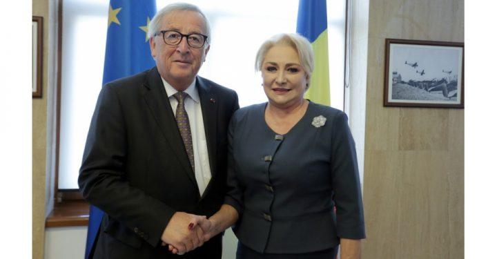 Imagini de la intrevederea Dancila Juncker. Care a fost principalul subiect de discutie
