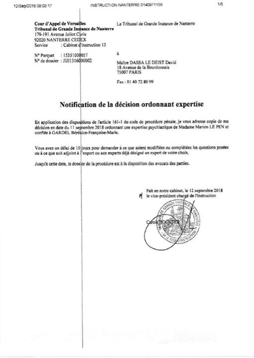 bilet Marine Le Pen, trimisa de justitie la psihiatru