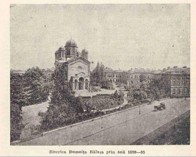 biserica in secolul 19 625x500 Domnița Bălașa, epopeea unei biserici epocale (I)