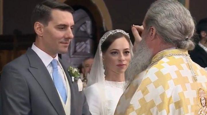 cununie 720x399 Nicolae, nepotul Regelui Mihai, si Alina, mireasa lui, cununati la biserica Sf. Ilie din Sinaia (FOTO/VIDEO)