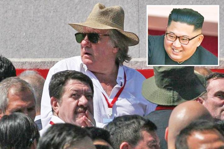 depardieu 1 Kim defileaza cu Depardieu, nu cu rachete