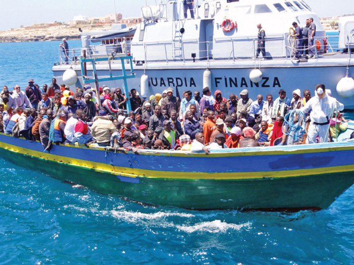 imigranti mediterana Au incurcat o imigrantii in Italia