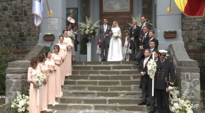 nicolae nunta 720x398 Nicolae, nepotul Regelui Mihai, si Alina, mireasa lui, cununati la biserica Sf. Ilie din Sinaia (FOTO/VIDEO)
