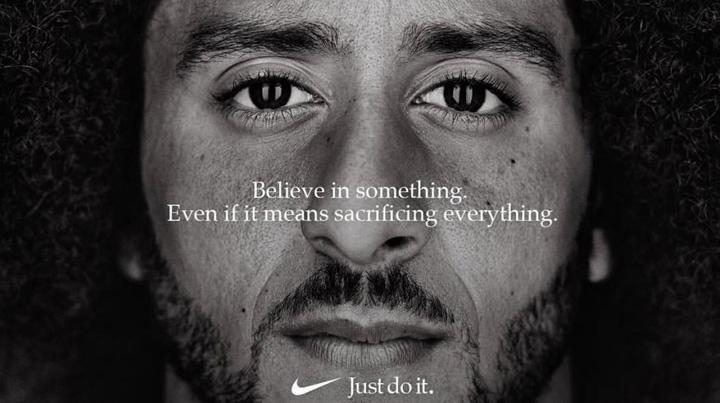 nike Nike, campanie cu iz politic
