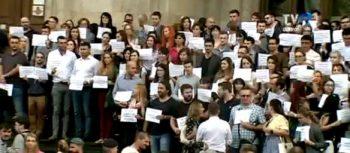 prot 1 350x153 Conducerea Curtii de Apel Bucuresti subliniaza ca se delimiteaza de protestul de pe treptele CAB