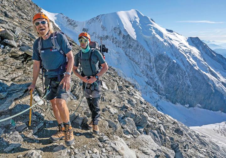 3 Miliardarul Richard Branson si fiul sau, la un pas de moarte in Alpi
