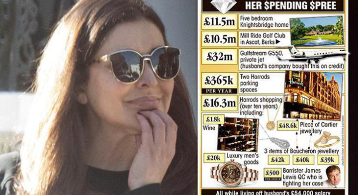 Jailed bankers wife who blew £16m stolen cash at Harrods has been unmasked as jobless Zamira Hajiyeva A cheltuit peste 18 milioane de euro la Harrods