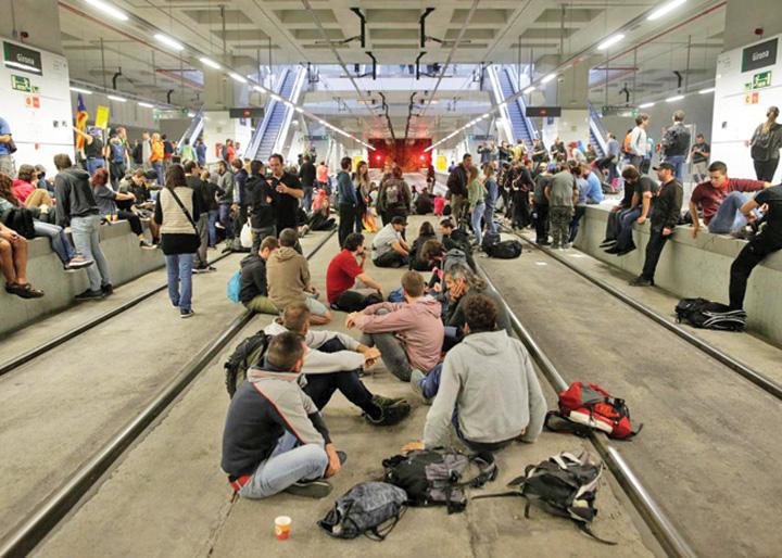 catalonia Separatistii catalani paralizeaza traficul