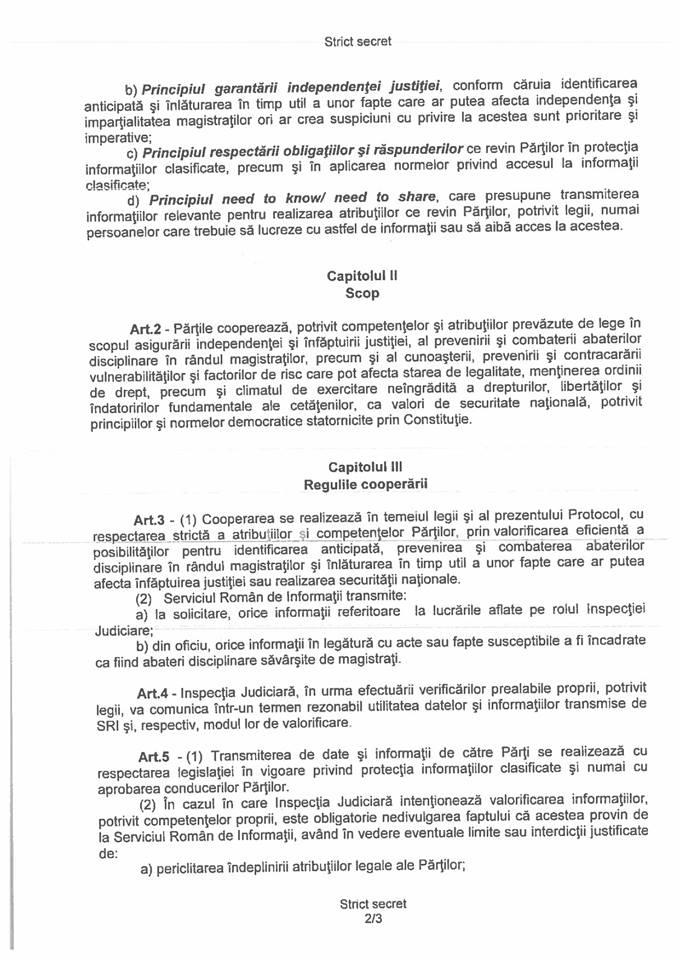 pag 2 Inspectia Judiciara a publicat protocolul cu SRI: si a incetat efectele la 8 martie 2017 (DOCUMENT)