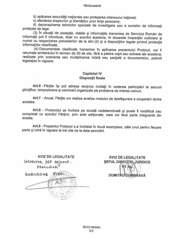pag 3 Inspectia Judiciara a publicat protocolul cu SRI: si a incetat efectele la 8 martie 2017 (DOCUMENT)