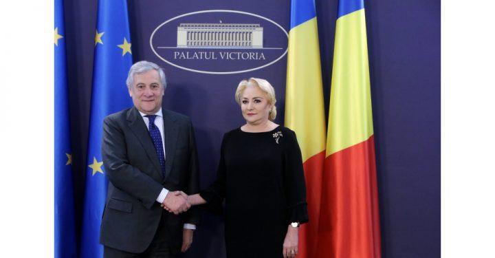 1542790228big 01 resize 720x375 Presedintele PE, la Palatul Victoria. Dancila a asigurat ca Romania e pregatita sa preia sefia Consiliului UE