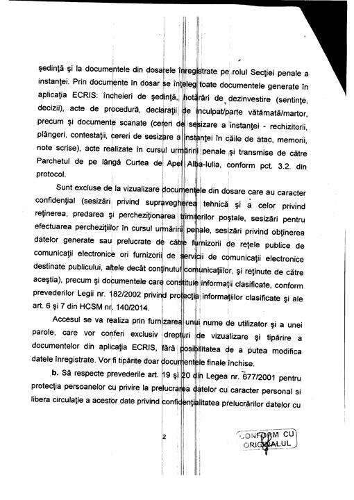 FE7C6FEA 6F7E 45F7 A79B EEB004E3F68E 2 DOCUMENT. Lazar, protocol cu judecatorii!