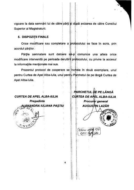 FE7C6FEA 6F7E 45F7 A79B EEB004E3F68E 4 DOCUMENT. Lazar, protocol cu judecatorii!