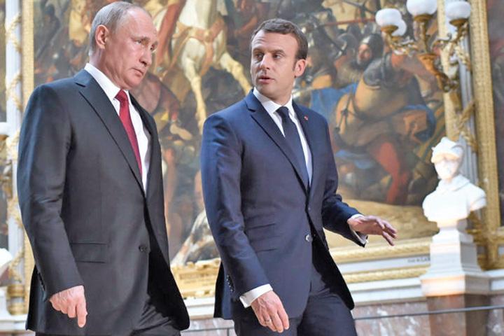 Macron Putin Macron cheama UE la arme contra Rusiei