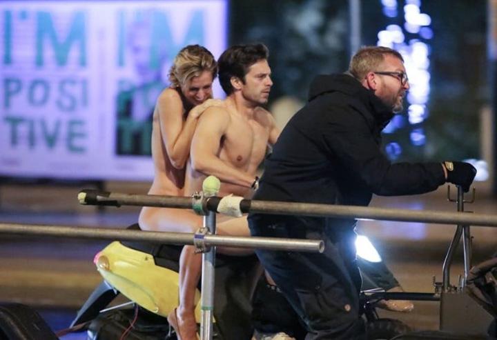 actor 4 Sebastian Stan, gol pusca pe scuter