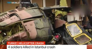 elicopter prab 350x187 Elicopter militar prabusit intre blocuri, la Istanbul: patru morti (VIDEO)