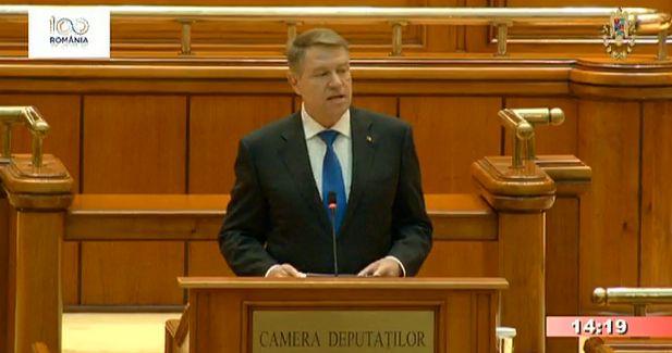 iohannis parlament 1 Iohannis, la sedinta solemna: romanii vor lideri politici reponsabili, cinstiti