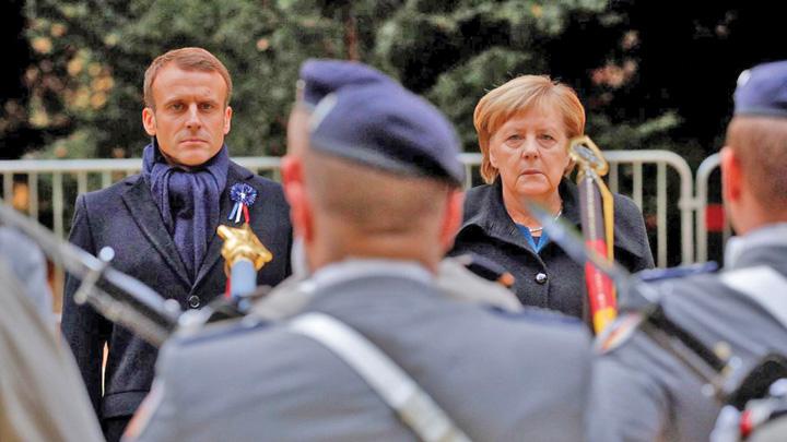macron merkel Merkel si Macron, singurii racani ai armatei europene