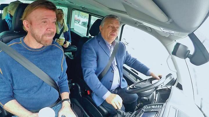 orban masina Viktor Orban isi face campanie cu Chuck Norris