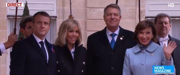 poza Centenarul sfarsitului Primului Razboi Mondial marcat la Paris. Sotii Iohannis, primiti la Palatul Elysee