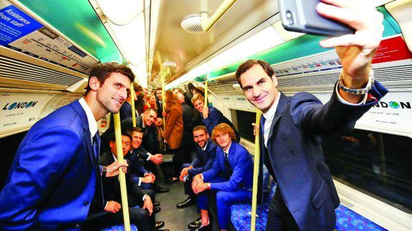 tenis 4 Cei mai buni jucatori de tenis, campioni şi in metrou