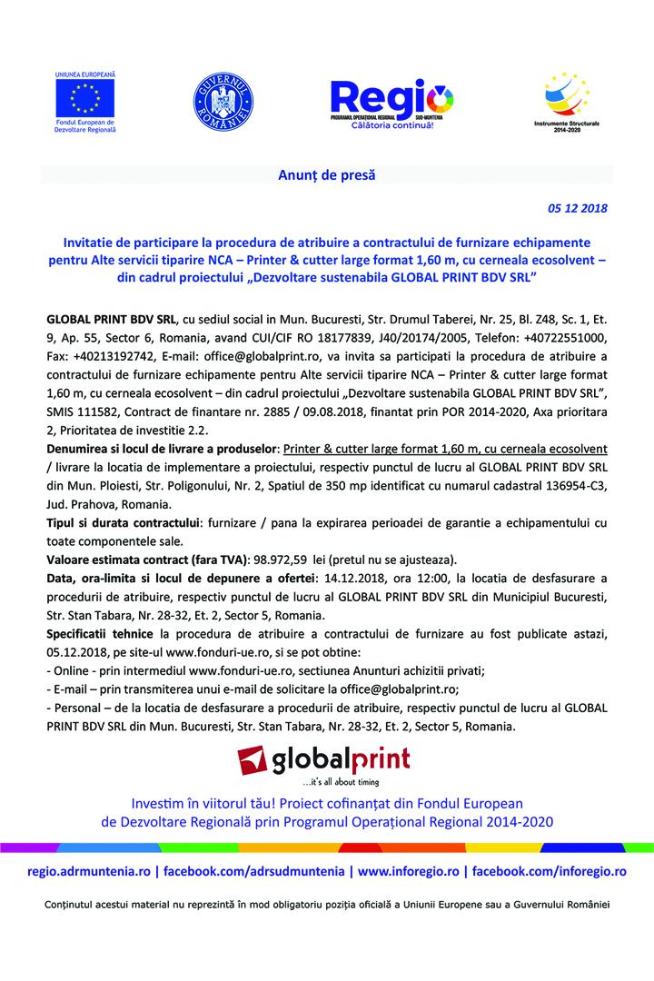 "Anunt in presa invitatie de participare 6 reluata  10 x 15 cm copy Anunt de presa – ""Dezvoltare sustenabila GLOBAL PRINT BDV SRL"""