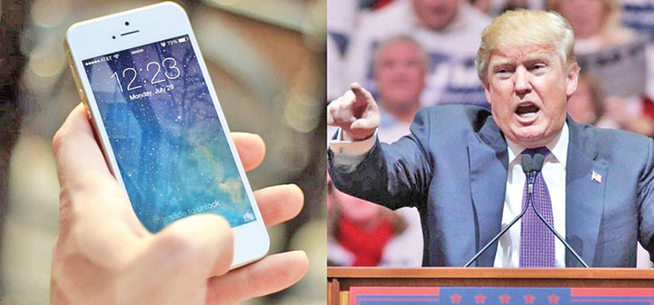 iPhone iPhone, strans cu usa de Trump