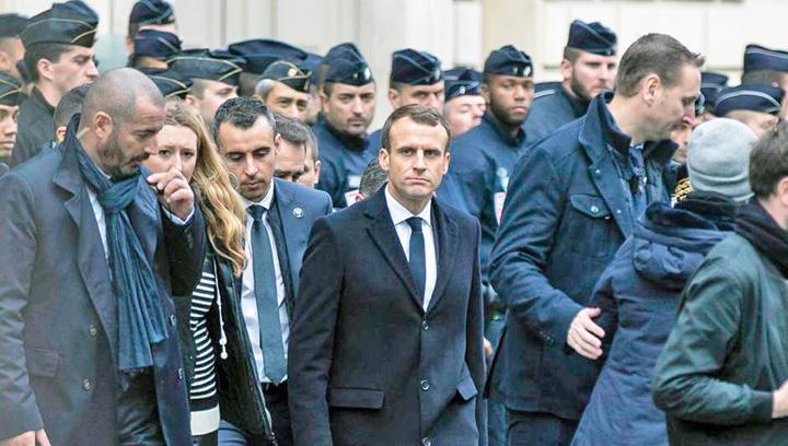 macron 1 Franta, in menghina revolutiei protestelor
