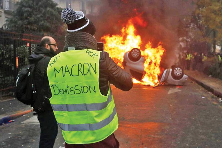 paris proteste Se rupe Europa