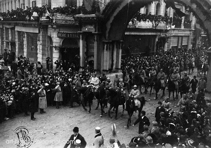 pta palatului 1dec 1918  București, reședință domnească și Capitală (VII)