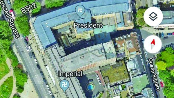 svastica mare De ce apare svastica pe Google Maps