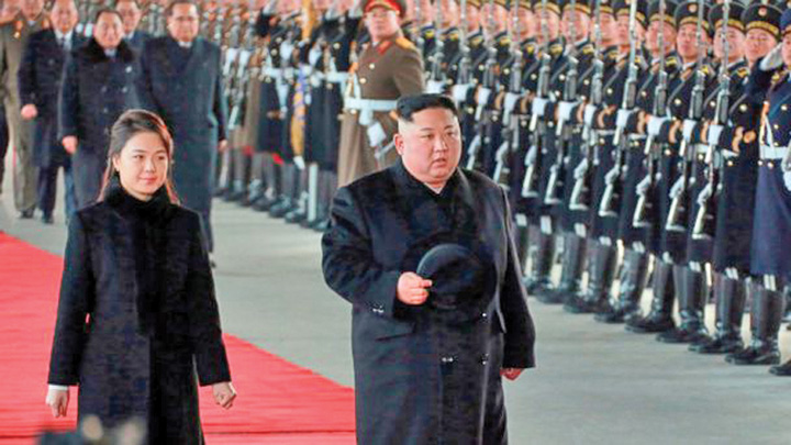 kim Kim, in China cu trenul blindat