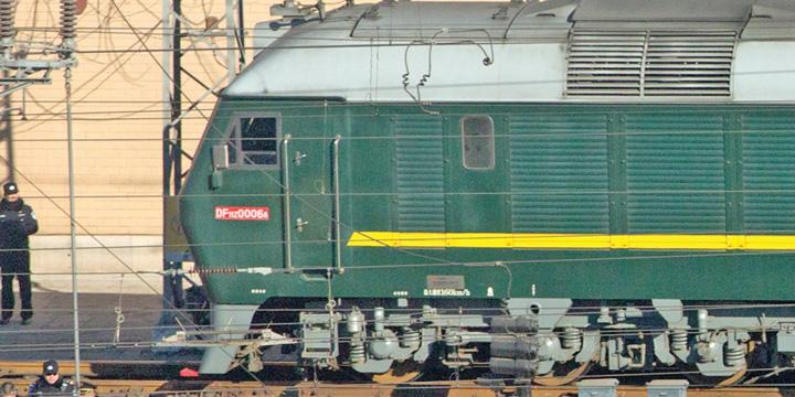 tren kim Kim, in China cu trenul blindat