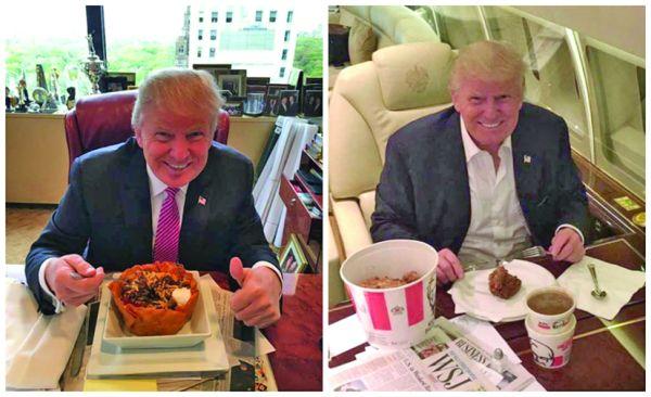 Trump fast food Cica Trump e foarte sanatos