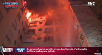 cladire in flacari 350x190 Opt oameni au murit in urma unui incendiu violent, la Paris (VIDEO)