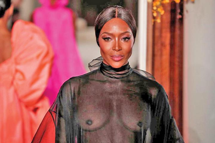 naomi Naomi Campbell a luat teapa la Dresda