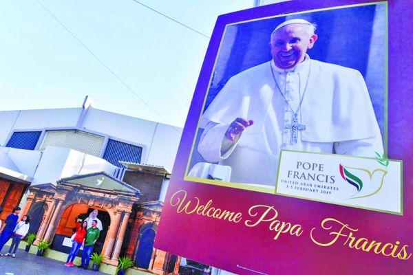 papa Papa Francisc a inceput o vizita istorica in Emiratele Arabe Unite